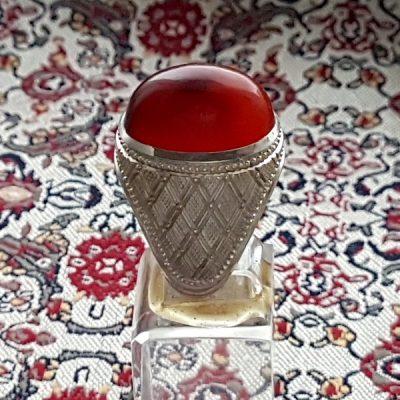 عقیق اصل یمن سرخ آنس f294