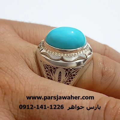 انگشتر مردانه رکاب نقره دست ساز فاخر 209