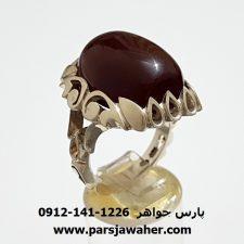 انگشتر عقیق کرزی آنسی یمن f299
