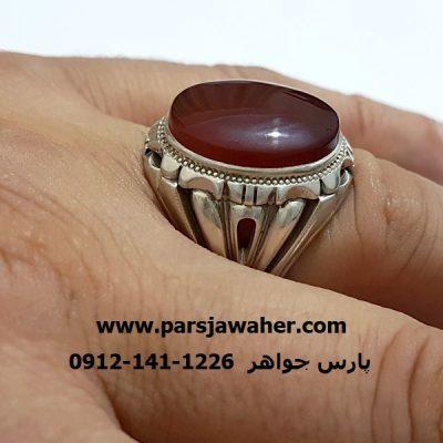 انگشتر مردانه رکاب دست ساز نقره a293