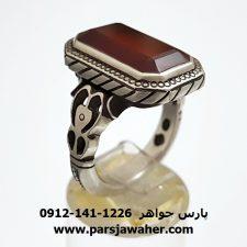 انگشتر عقیق یمن مردانه a294