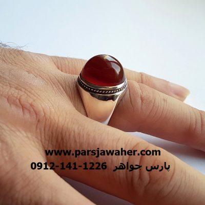 انگشتر رکاب نقره دست ساز مردانه a295