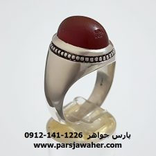 انگشتر عقیق سرخ یمنی a298