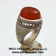 انگشتر مردانه عقيق يمني a299