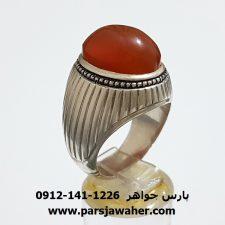 انگشتر نقره عقيق يمني a300