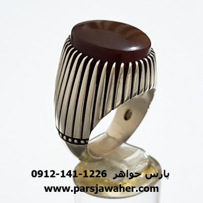 انگشتر عقيق کبدي يمني f302