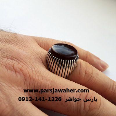 انگشتر رکاب دست ساز نقره مردانه f302