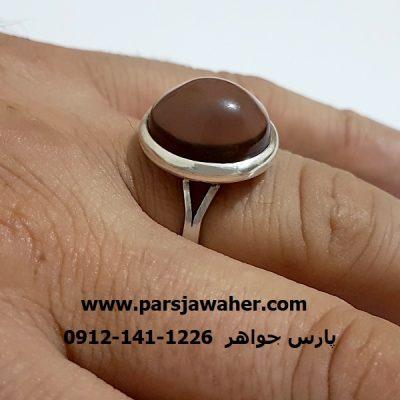 انگشتر رکاب نقره دست ساز بندی a301