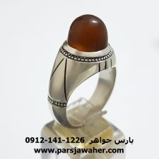 انگشتر جزع یمانی a306