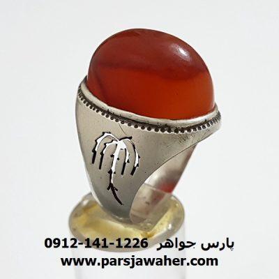 انگشتر قديمی عقيق يمني مردانه a308