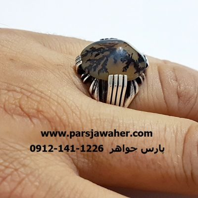 انگشتر شجر رکاب نقره دست ساز مردانه 207
