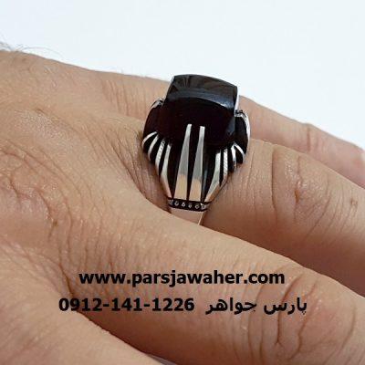 انگشتر دو چنگ نقره دست ساز f307