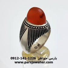 انگشتر عقیق پرتقالی یمنی a314