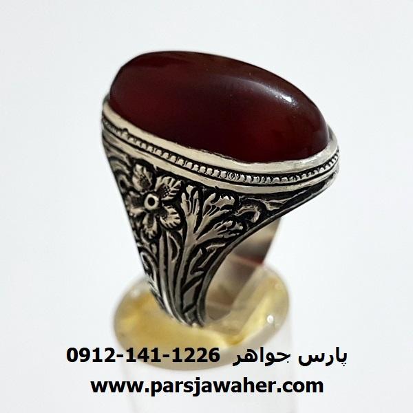 انگشتر قديمی عقیق یمنی f308