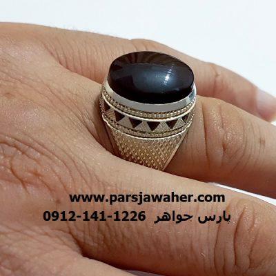 انگشتر عقیق نقره دست ساز مردانه f309