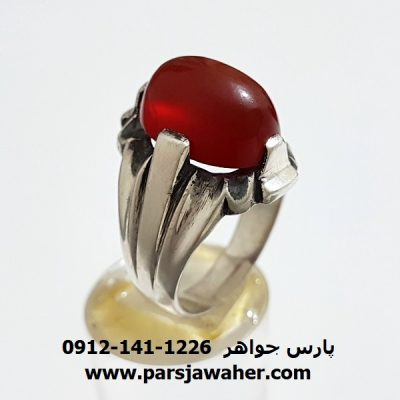 انگشتر قديمي عقیق یمنی a315