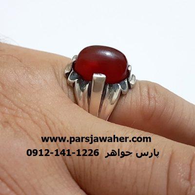 انگشتر قديمي رکاب نقره دست ساز a315