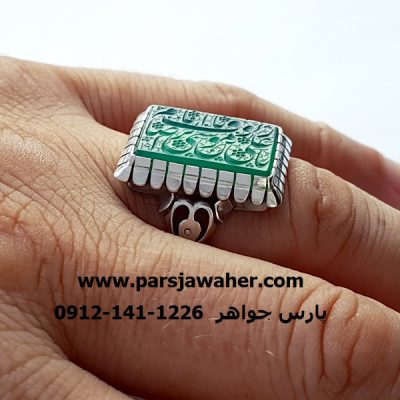 انگشتر خطی رکاب دست ساز نقره مردانه 7049