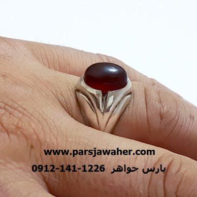 انگشتر قدیمی رکاب نقره لاله تبریز a316
