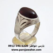 انگشتر قدیمی جزع یمانی f319