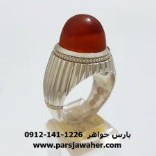 انگشتر مردانه عقیق یمن f321