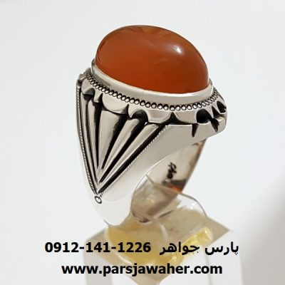 انگشتر مردانه عقيق يمن دست ساز a320