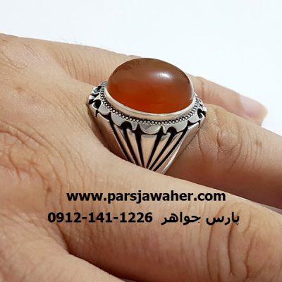 انگشتر مردانه دست ساز نقره a320