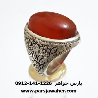 انگشتر مردانه قدیمی عقیق یمنی a323