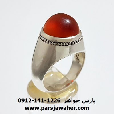 انگشتر فدیوم عقیق یمنی f339