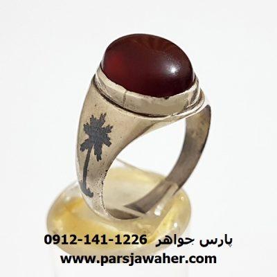 انگشتر عقیق یمنی قدیمی a324