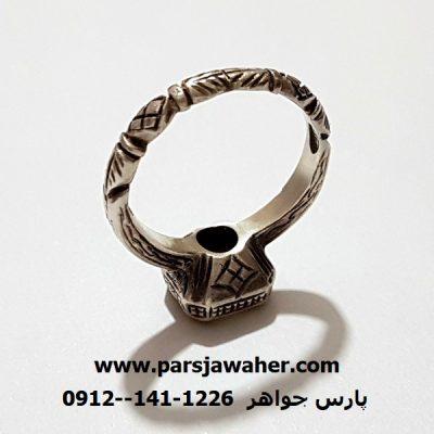 انگشتر صفوی نقره دست ساز آذری f342