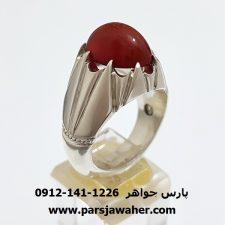 انگشتر عقیق یاقوتی یمنی f346