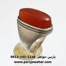 انگشتر مردانه عقیق یمن f348