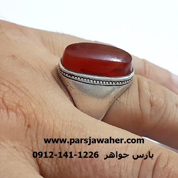 انگشتر مردانه رکاب نقره دست ساز f348