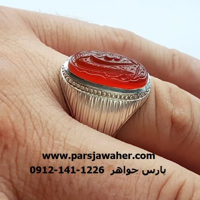 انگشترعقیق خط مهر محسن سعیدی منش f352