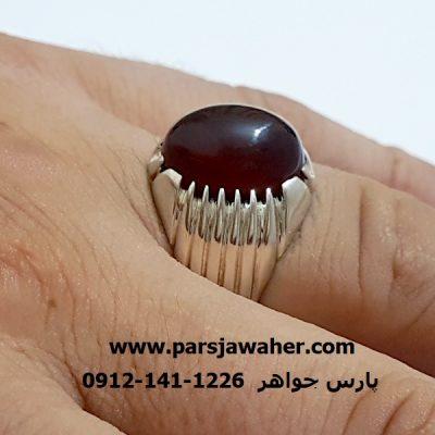 انگشترعقیق یمنی رکاب نقره دست ساز f354
