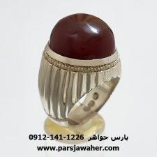 انگشتر عقيق ملکي يمني f359