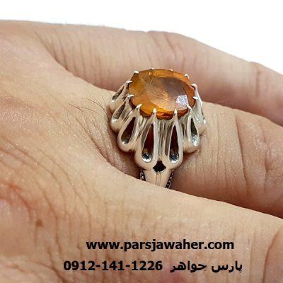 انگشتریاقوت رکاب نقره دست ساز 340