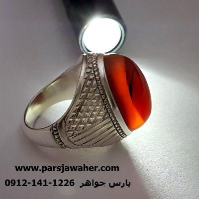 عقیق کلاه دار طبیعی اصل یمن شجر سیاه f363