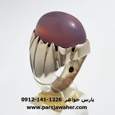 انگشتر عقیق سوسنی یمن مردانه a336