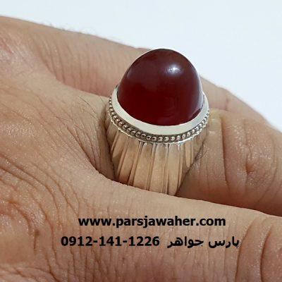 انگشترعقیق رکاب نقره دست ساز مردانه a367