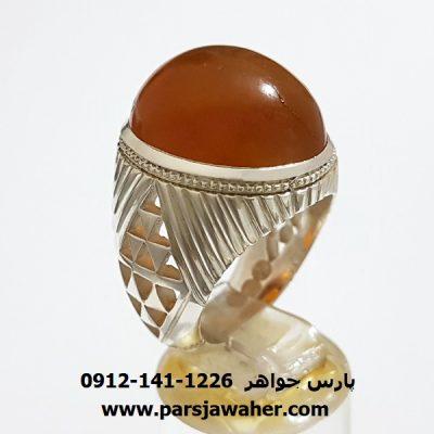 انگشتر مردانه مهره عقیق یمن f378