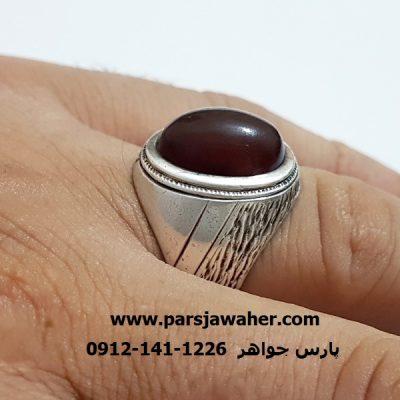 انگشتر قدیمی نقره دست ساز مردانه a343