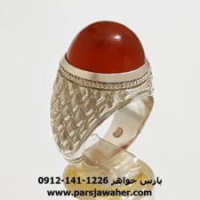 انگشتر عقیق پرتقالی یمنی a344