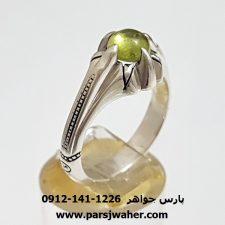 انگشتر دُرّ سبز فاطمی کمیاب f386
