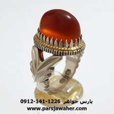 انگشتر فدیوم انوار عقیق یمنی f390