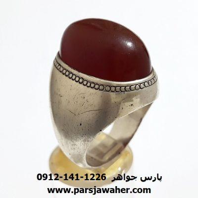 انگشتر قدیمی مردانه عقیق یمن f393