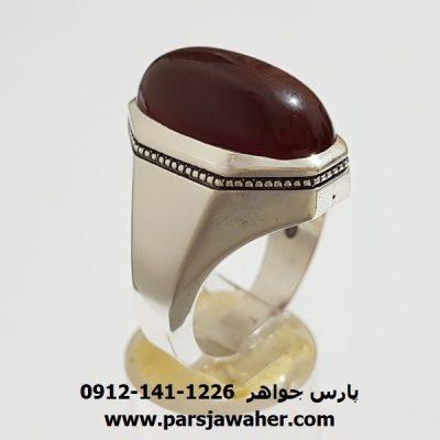 انگشتر مردانه عقیق یمنی اصل f396