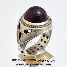 انگشتر حجر سیلان مردانه f399