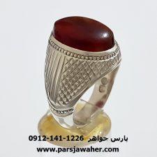 انگشتر عقیق تراش دار یمنی f401